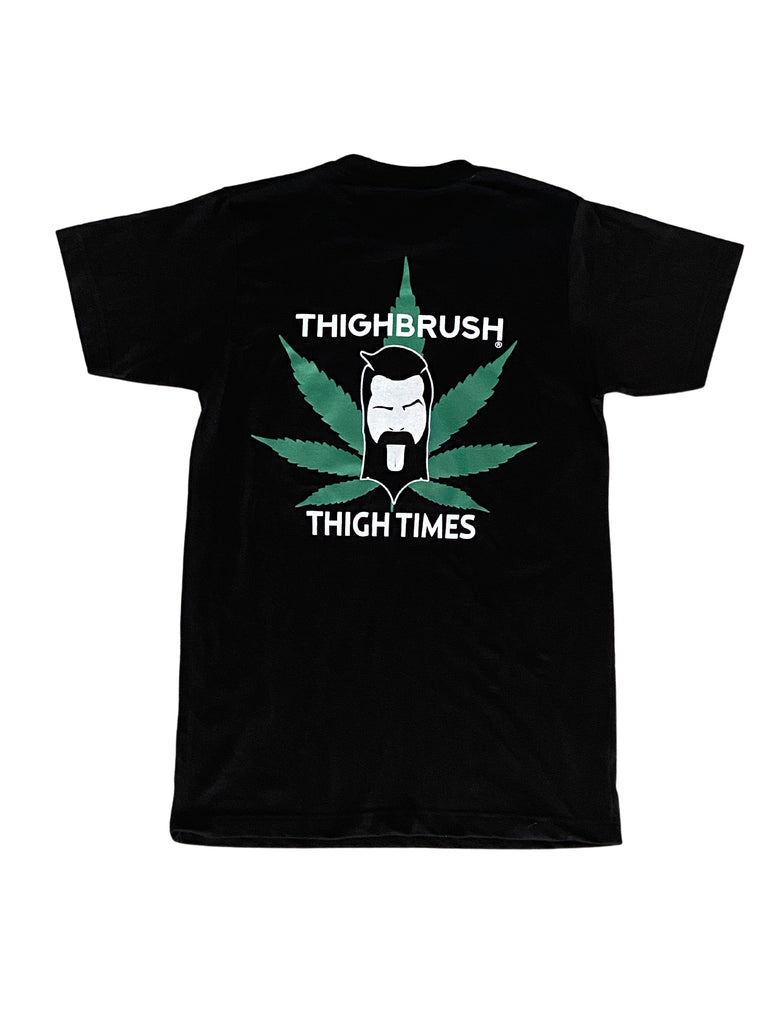 "PREMIUM EDITION - THIGHBRUSH® - ""THIGH TIMES"" - Men's T-Shirt - Black"