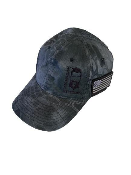 THIGHBRUSH® TACTICAL - Unstructured Low-Profile Hat - Grey and Black Camo