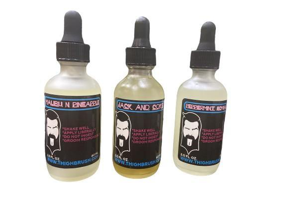 "THIGHBRUSH® LIQUORS - ""Labia Libations"" Beard Oil with a Kick! - Three Bottle Bundle"