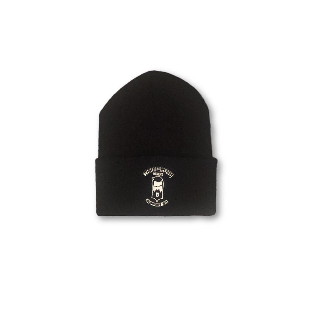 "THIGHBRUSH® BIKERS ""SUPPORT 69"" Cuffed Beanies - Patch on Front - Black - thighbrush"
