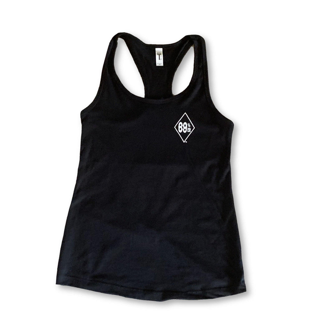 "THIGHBRUSH® ""69% ER™ DIAMOND COLLECTION"" - Women's Tank Top - Black"