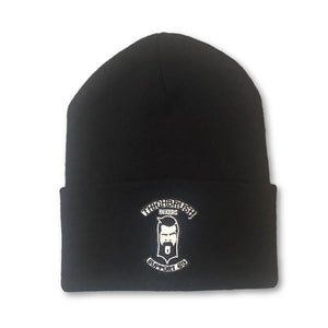 "THIGHBRUSH BIKERS ""SUPPORT 69"" Cuffed Beanies - Patch on Front - Black - THIGHBRUSH®"