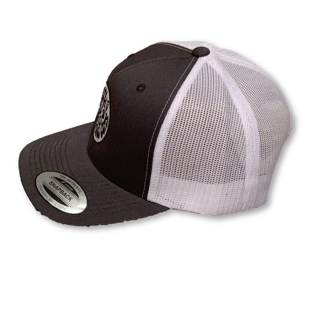 THIGHBRUSH® BEARD RIDING COMPANY - Trucker Snapback Hat - Charcoal and White - thighbrush