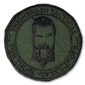 "THIGHBRUSH TACTICAL - MORAL PATCH ""For Those Special Ops"" Olive Green (Velcro Backing)"