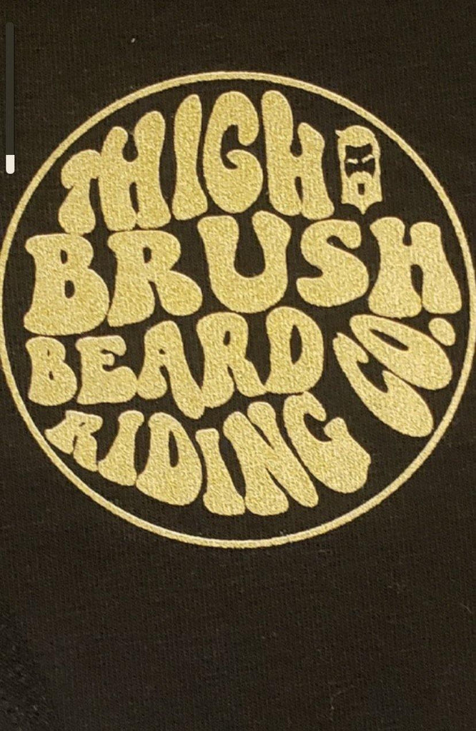 THIGHBRUSH® BEARD RIDING COMPANY Beanies - Patch on Front - Black with Gold