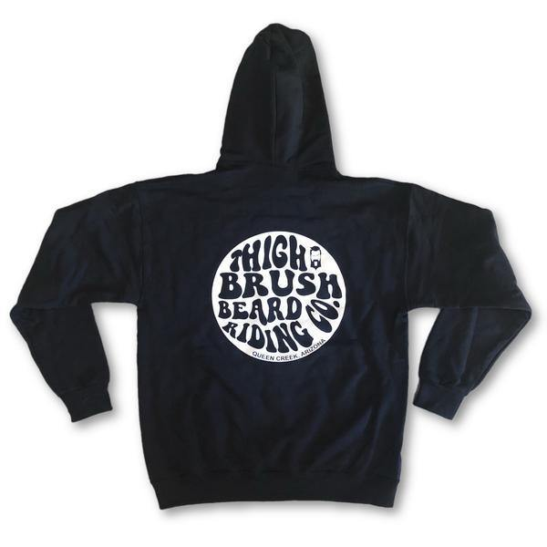 THIGHBRUSH BEARD RIDING COMPANY - Men's Hooded Sweatshirt - Black