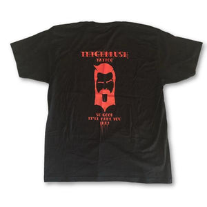 "THIGHBRUSH® TATTOO - ""So Good It'll Make You Ink"" - Men's T-Shirt - Black and Red - thighbrush"