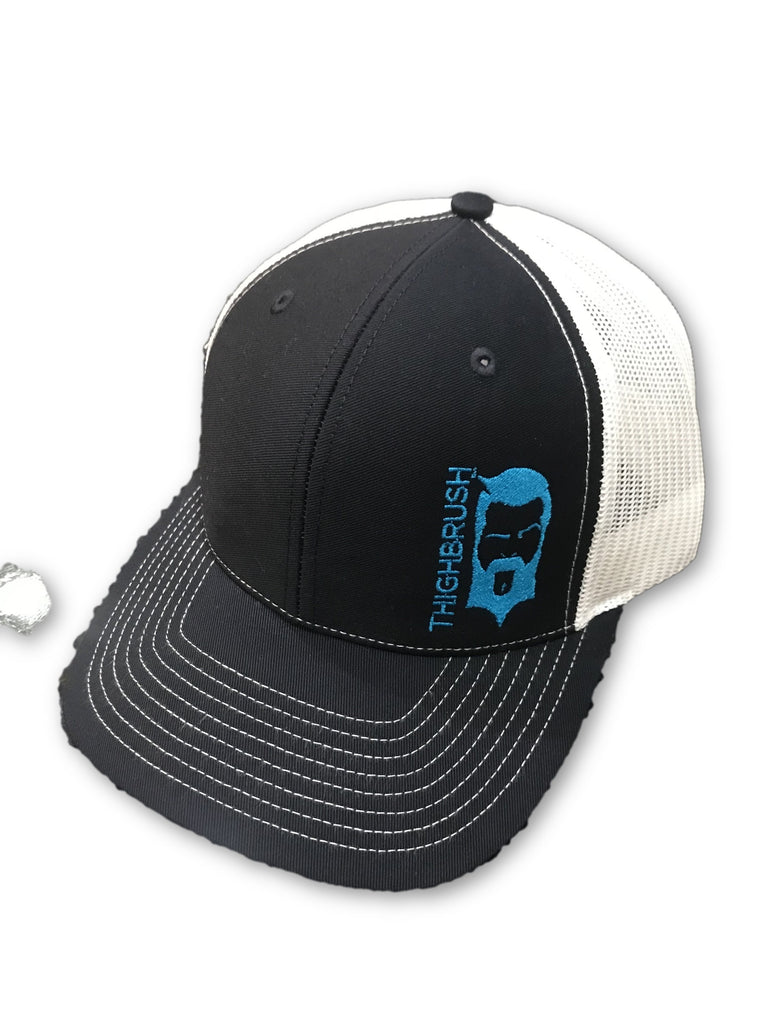 THIGHBRUSH® - Trucker Snapback Hat - Navy, Turquoise and White - thighbrush