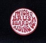 THIGHBRUSH® BEARD RIDING COMPANY Beanies - Black with Pink