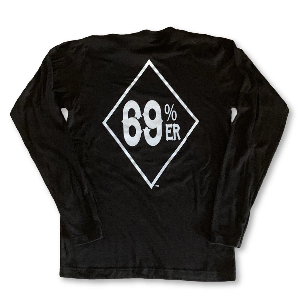 "THIGHBRUSH® ""69% ER™ DIAMOND COLLECTION"" - Men's Long Sleeve T-Shirt - Black"