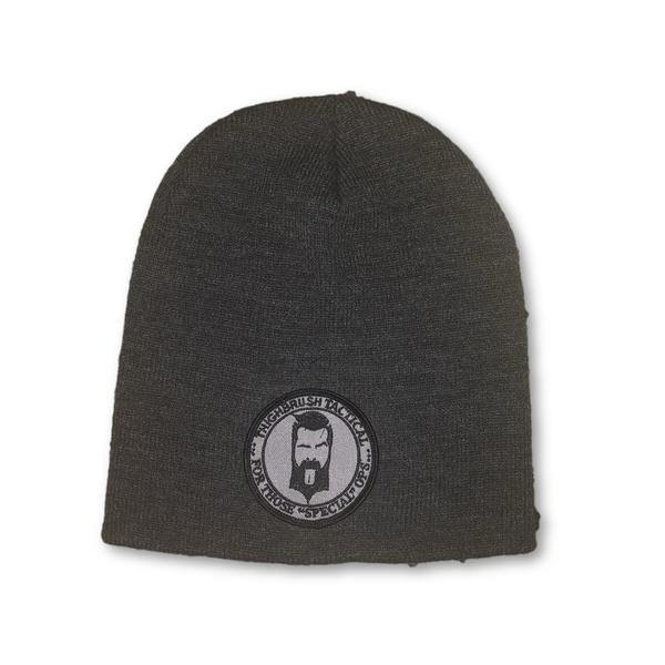 "THIGHBRUSH® TACTICAL Beanies - ""For Those Special Ops"" Patch on Front - Charcoal - thighbrush"