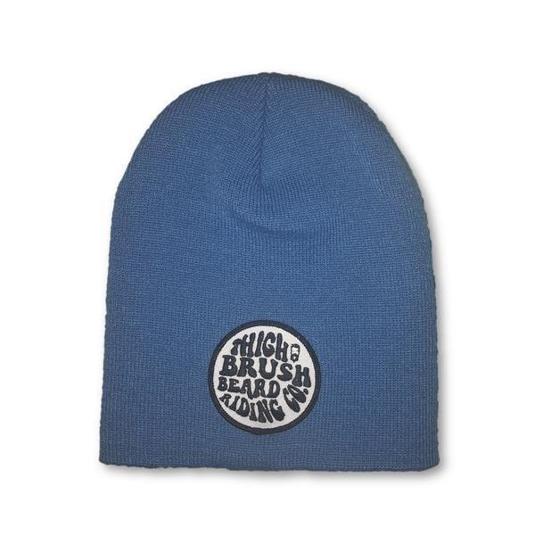 THIGHBRUSH® BEARD RIDING COMPANY Beanies - Patch on Front - Blue - thighbrush