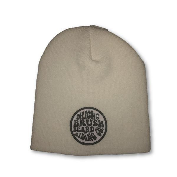 THIGHBRUSH® BEARD RIDING COMPANY Beanies - Patch on Front - White - thighbrush