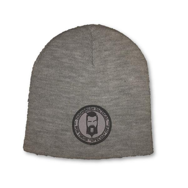 "THIGHBRUSH® TACTICAL Beanies - ""For Those Special Ops"" Patch on Front - Grey - thighbrush"