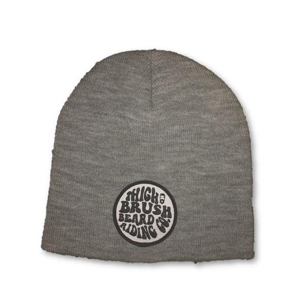 THIGHBRUSH® BEARD RIDING COMPANY Beanies - Patch on Front - Grey - thighbrush