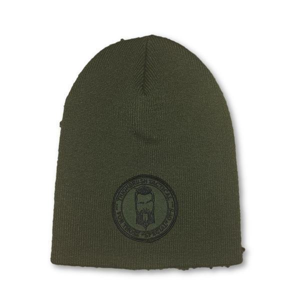 "THIGHBRUSH® TACTICAL Beanies - ""For Those Special Ops"" Patch on Front - Olive - thighbrush"