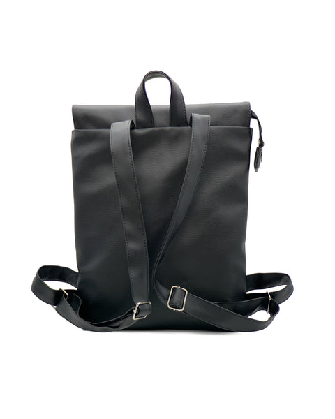 SILUR Black Notebook Backpack - zoe & co
