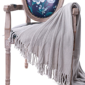 Battilo Cable Knit Woven Luxury Throw Blanket With Tasseled Ends - A Little Of Dis And Dat