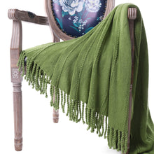 Load image into Gallery viewer, Battilo Cable Knit Woven Luxury Throw Blanket With Tasseled Ends - A Little Of Dis And Dat