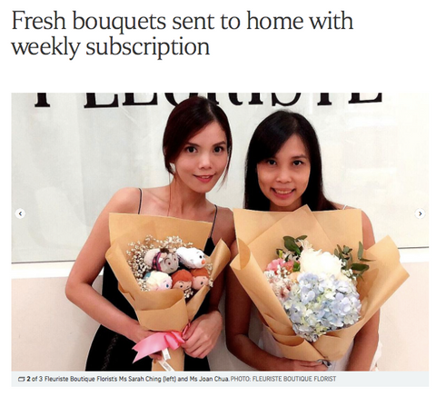 Straits Times Feature on Floral Subscription Services