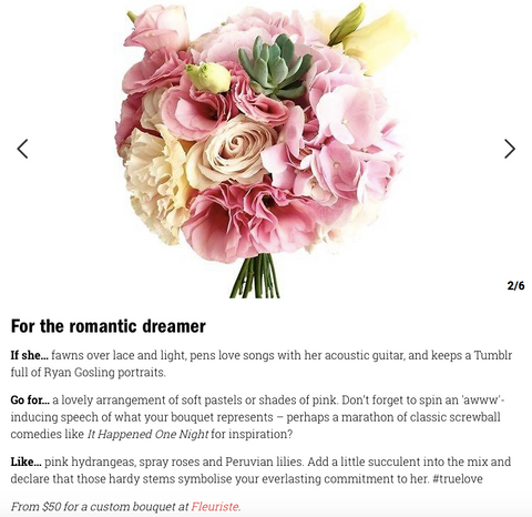 Time Out Magazine - How to choose the perfect bouquet of flowers