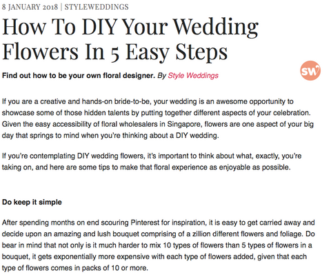Style Weddings - How to DIY your Wedding Flowers in 5 Easy Steps
