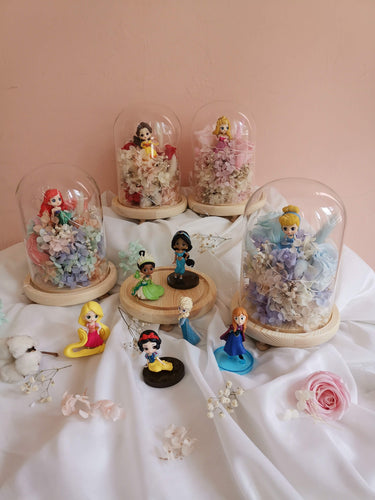 Everlasting Love Bell Jar with Disney Princesses