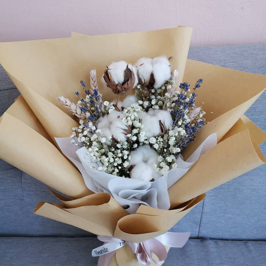 Cotton & Lavender dried bouquet