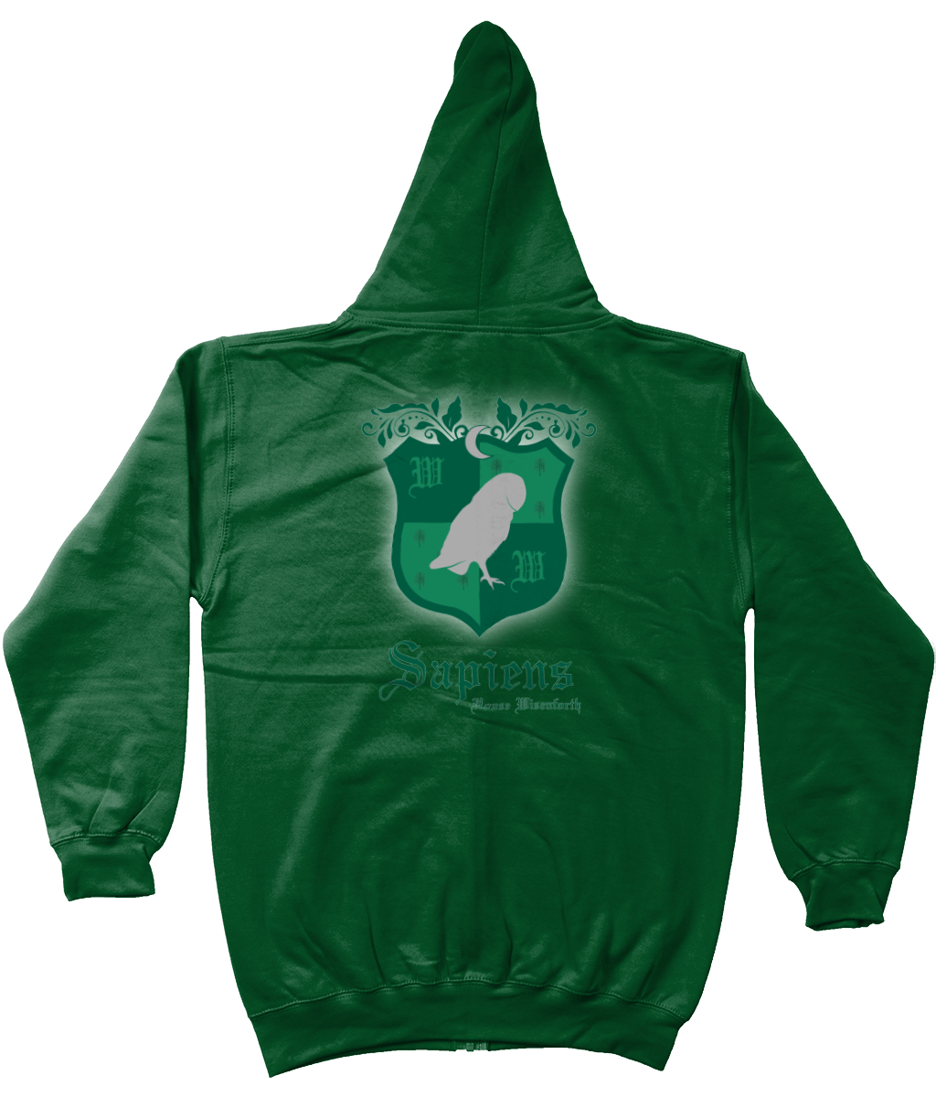 Unisex Wisenforth Crest Zip-Up Hoodie