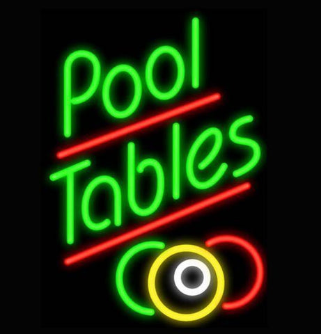 Pool Table Handmade Art Neon Sign