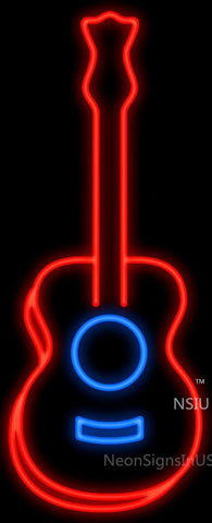 Acoustic Guitar Neon Sign