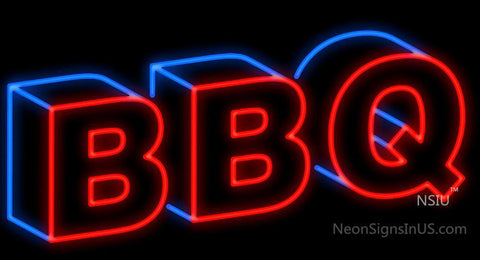 BBQ 3D Neon Sign