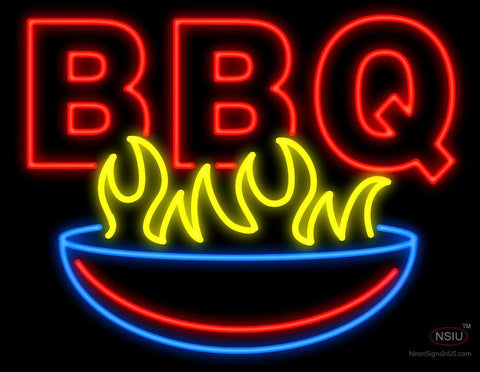 BBQ with Grill Neon Sign