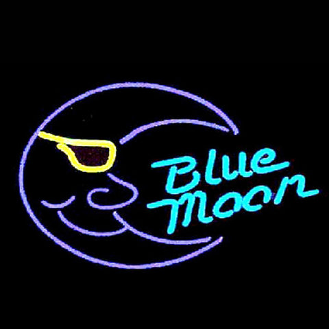 Professional  Blue Moon Beer Bar Open Neon Signs