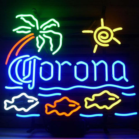 Blue Moon Martini Cocktails Game Room Neon Light Sign