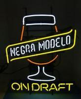 CERVEZA NEGRA MODELO ON DRAFT Handmade Art Neon Sign