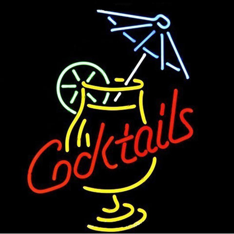 Professional  Cocktail And Martini Umbrella Cup Beer Bar Real Neon Sign Gift Fast Ship