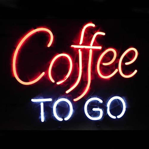 Professional  Coffee To Go Restaurant Sign Beer Bar Neon Sign