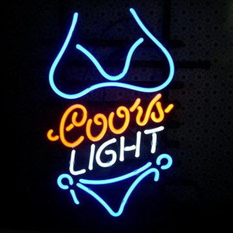 Professional  Coors Purple Bikini Neon Sign