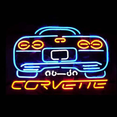 Professional  Corvette Shop Open Neon Sign