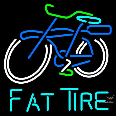 Custom Fat Tire Amber Ale Schwinn Style Bicycle Neon Sign