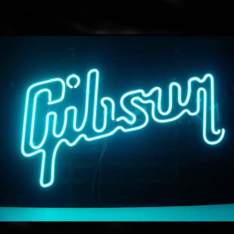 Professional  Gibson Guitar Music Beer Bar Open Neon Signs