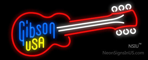 Gibson Guitar USA Neon Sign