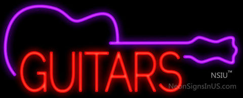 Guitars Neon Sign