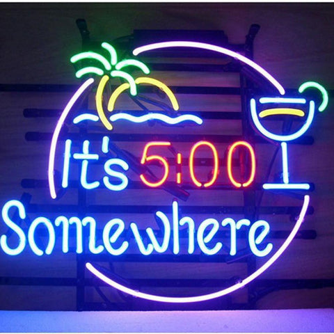 Professional   Its 500 Somewhere Beer Bar Open Neon Signs
