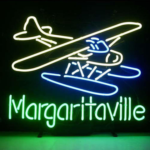 Professional  Jimmy Buffett Margaritaville Airplane Beer Bar Open Neon Signs