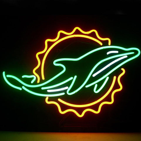 Professional  Miami Dolphin Open Neon Sign