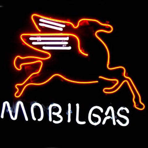 Professional  Mobil Gas & Oil Beer Bar Neon Sign