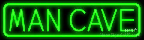 Man Cave Green Border Neon Sign