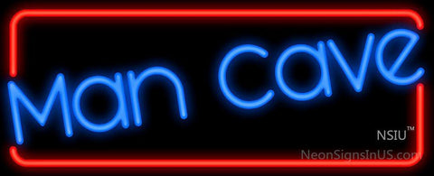 Man Cave Red Border Neon Sign